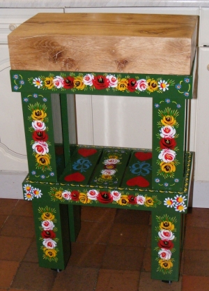 Table by Have a Heart Designs hand-painted by Anne Nichols Canalia